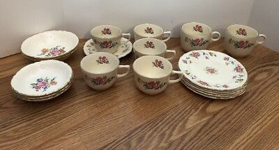 Lot of 18 Pieces Vintage Edwin M Knowles China Co Dishes Made In USA Plates Bowl