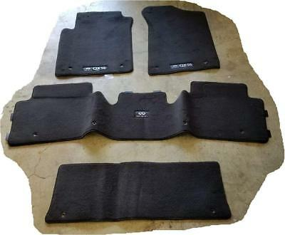2011 to 2013 Infiniti QX56 Factory Replacement Cartpeted Floor Mats -BLACK