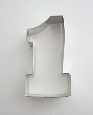 """4"""" Number # 1 Tin Plated Steel Fondant Cookie Cutter First Birthday Age Party"""