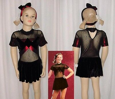 5afe53e1a RED AND BLACK Child s Dance Costume with Sequins size child s large ...