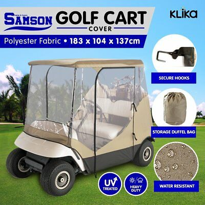 Samson 2 Seater Golf Cart Cover Enclosure Buggy Rain Waterproof Club EZGO Yamaha