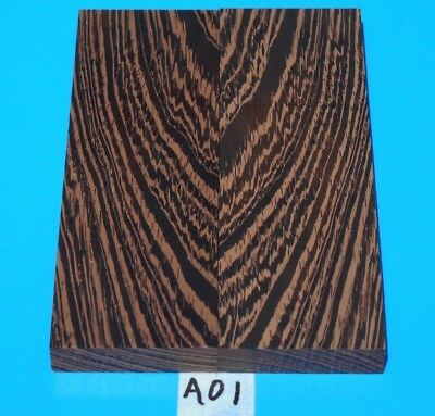 1 Pair Figured Wenge Knife Blank Handle Scales~Exotic Wood~Exotic Timber