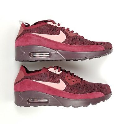 093202939cb24e Mens Nike Air Max 90 Ultra 2.0 Flyknit Shoes Team Red Rust Pink 875943 601