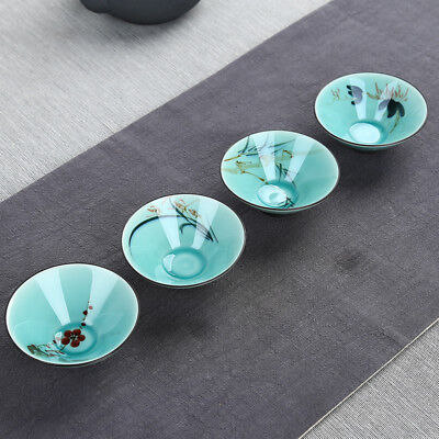 refreshing green traditional porcelain tea cup tea ceremony personality gift