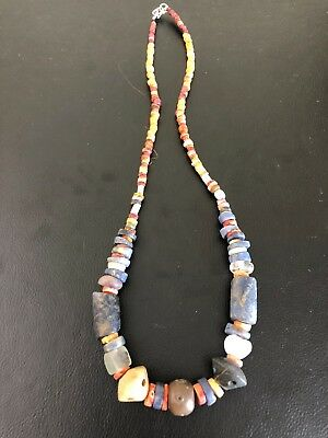 Pre Columbian Chavin/Moche/Chimu Chaquira Beads Necklace Peru Authentic!