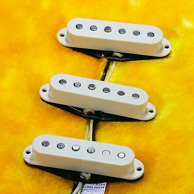 Lindy Fralin Blues Special STRAT Pickups ANTIQUE WHITE w/ Bass Plate/FREE Knobs