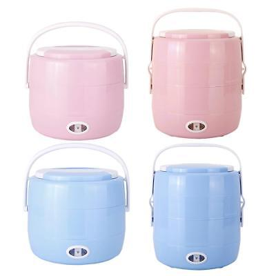 Portable Electric Heating Lunch Box 2L Rice Cooker Steamer Warmer Container Box
