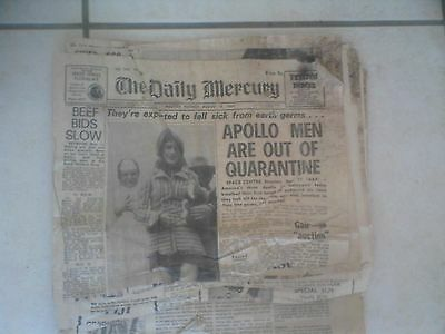 Old Mackay Daily Mercury Aug 12 1969 newspaper pages collectable vintage antique
