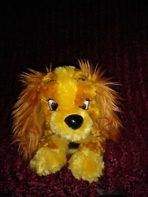 Disney Parks THE Lady and the tramp LADY fluffy plush excellent condition