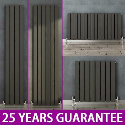 Anthracite Vertical Horizontal Designer Radiator Flat Panel Central Heating UK