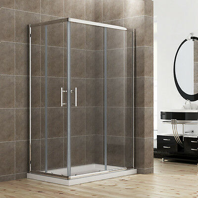 900x800mm Shower Enclosure And Tray Corner Entry Cubicle Glass Screen Door
