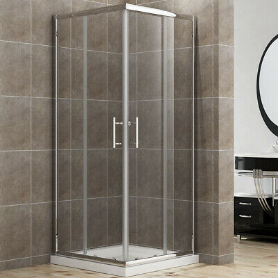 760x760mm Shower Enclosure And Tray Corner Entry Cubicle Glass Screen Door