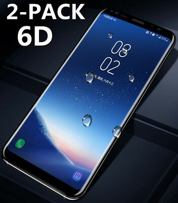 2PC 6D Full Cover TEMPERED GLASS SCREEN Film FR SAMSUNG S8 S9 Plus Note 8 LOT FG