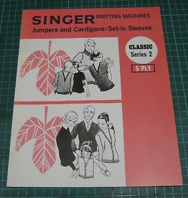 Singer Knitting Machine Pattern Jumpers Cardigans Set in Sleeves 5 ply sweater