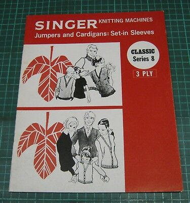 Singer Knitting Machine Pattern Jumpers Cardigans Set in Sleeves 3 ply sweater