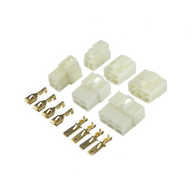 6.3mm 1-21 Way Pin Car Electrical Wire plug Connector crimp Terminal Block Kits