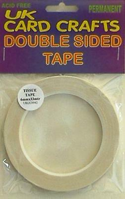 3mm X 33 Meters Double Sided Sticky Adhesive Tape Craft