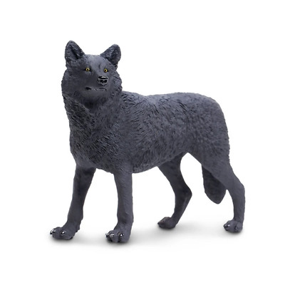 Safari Ltd Saf112989 Black Wolf, Wildlife Wonders