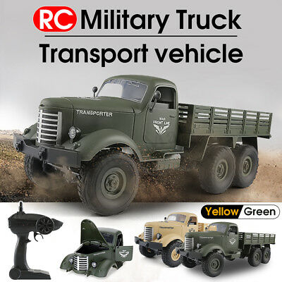 Q60 RC 1:16 2.4G Remote Control 6WD Tracked Off-Road Military Truck Car RTR