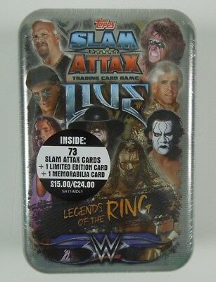 Topps WWE Slam Attax Live Collector's Mega Tin Legends of the Ring NEU OVP