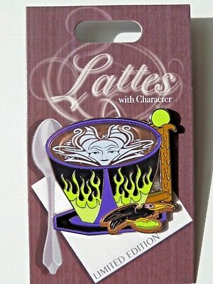 Disneyland 2018 MALEFICENT Latte Lattes with Character LE Disney Pin of Month