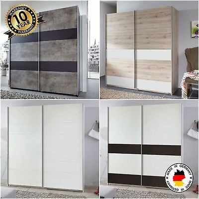 Chess 2 Door Sliding Wardrobe German Organiser Rails Storage Furniture Wood New