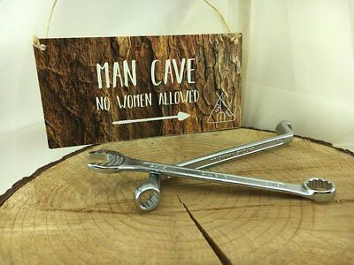 Man Cave Plaque Gift Boys Son Present Hanging Fun Sign Husband Dad Uncle