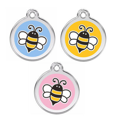 Red Dingo Bumble Bee Engraved / Personalised Dog / Cat ID identity Tags /Discs