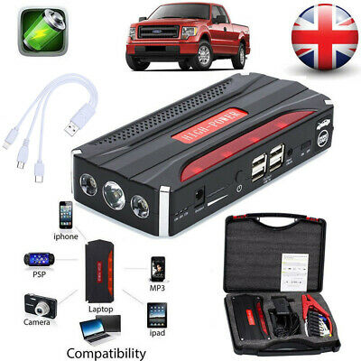 80000mAh Car Jump Starter Pack Booster Battery Charger Power Bank Rescue 600A UK