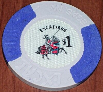 $1 1St Edition Gaming Chip From The Excalibur Casino Las Vegas Nv