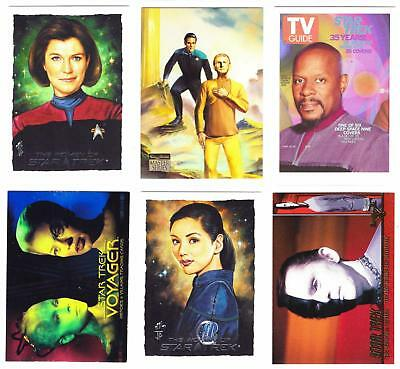 STAR TREK--Mixed Lot of 34 Insert & Promo Cards / Voyager, DS9, TOS +More^