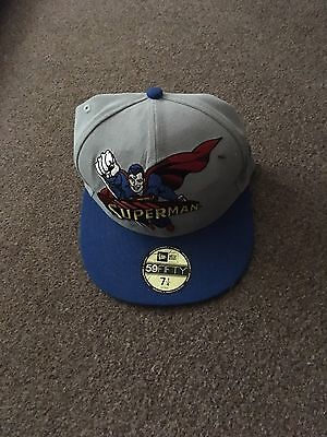 1e9a1995558 New Era Heroic Title Superman Official 59FIFTY Fitted cap Hat - Grey Blue 7  1