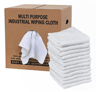 cotton terry cloth cleaning towels / rags dispenser box- (reclaimed)- 4 lb.