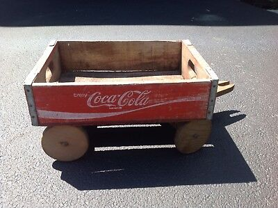 Coca Cola Wood Pull Wagon Vintage Crate Coke Onion City Tenn Coca-Cola