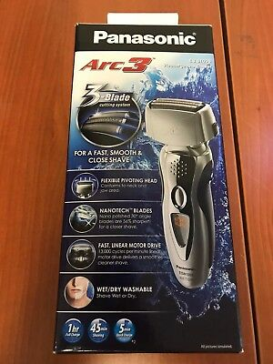 Panasonic ES8103S Arc3 Men's Electric Shaver Wet/Dry with Nanotech Blades, 3-Bla
