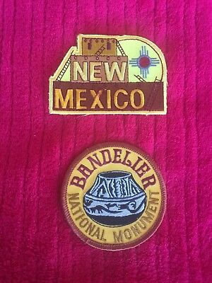 Set of 2 New Mexico Souvenir Embroidered Patches adobe pottery