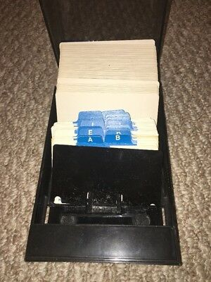 Rolodex Covered Card File VIP 24C  Vintage 1980's Gently Used