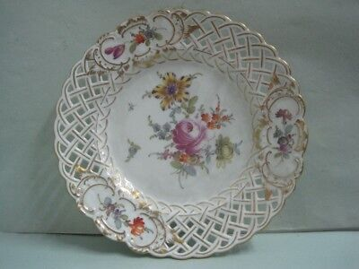Antique Dish porcelain with flower Meissen Germany