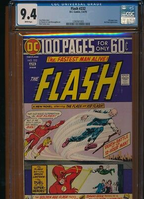 Flash # 232 CGC NM 9.4 100 Page Giant! White pages