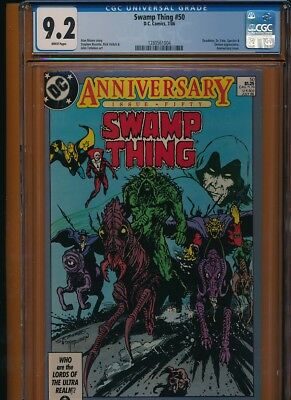 Swamp Thing #50 CGC 9.2 1st full app. of Justice League Dark!KEY ISSUE!L@@K!