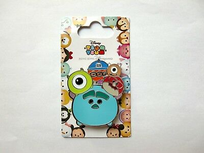Disney Pin - HKDL Tsum Tsum Slider Series - Monsters Inc. Sulley and Friends