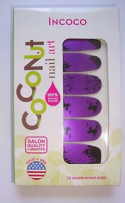 HALLOWEEN Witch Way Purple Incoco Coconut NAIL Art POLISH STRIPS Limited Edition