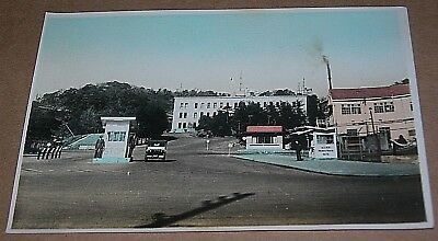 1946 RPPC Yokosuka U.S. Occupied Japan Photo Tokyo Bay American Base Entrance