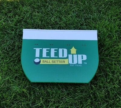 Teed Up Golf Ball Setter Gravity Driven Portable Practice Tee Training Aid