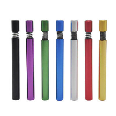 78/59mm Fashion Metal Alloy Pipe Dugout One Hitter Smoking Tobacco Pipe 7Color