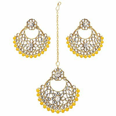8158ad84a019f JWELLMART INDIAN TRADITIONAL Gold Plated CZ Maroon Earrings Tika ...