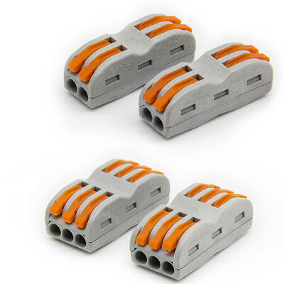 4 6 way Reusable Electrical Lever Connectors Wire Cable Terminal Block Clamps