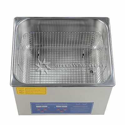 New Stainless Steel 10L Industry Heated Ultrasonic Cleaner Heater w.Timer