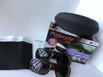 d1ada37616 Hot 2 IN 1 BOX POLARYTE HD SUNGLASSES ANTI SCRATCH USEFUL FOR CYCLING  DRIVING