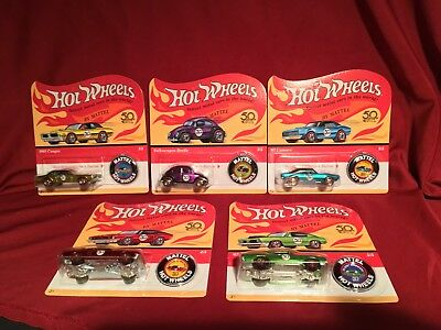 Hot Wheels 50th ANNIVERSARY ORIGINALS Redlines COMPLETE SET UNPUNCHED *IN HAND*